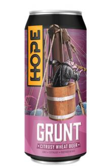 Review the Grunt Citrusy Wheat Can, from Hope Beer