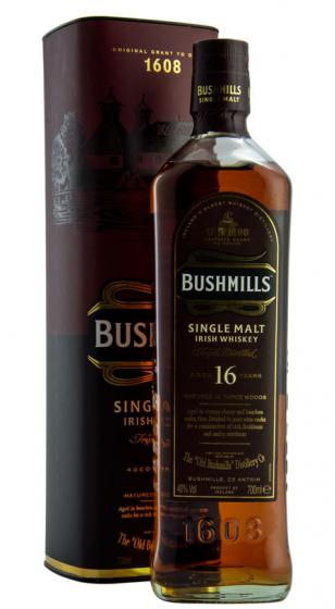 Buy online the Bush 16 Year Old Irish Single Malt Whiskey