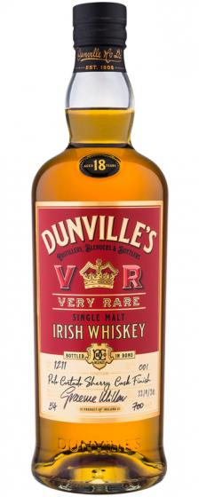 Dunville's 18 Year Old Palo Cortado Sherry Cask Finish, 54% ABV